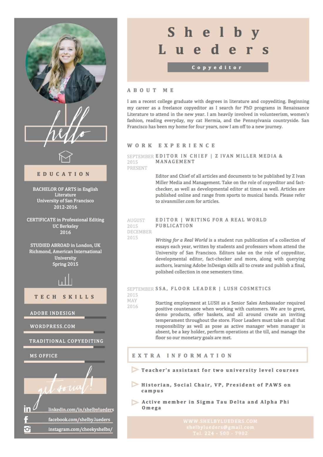resume shelby lueders
